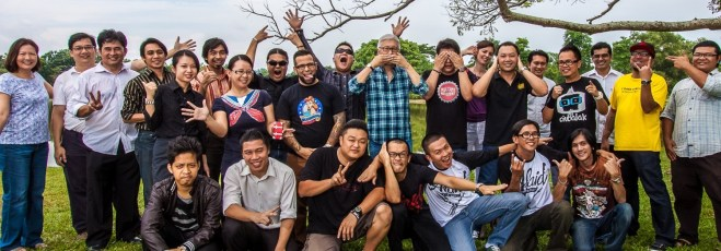 Some of the musicians featured in the book, with me at Likas park in Kota Kinabalu.