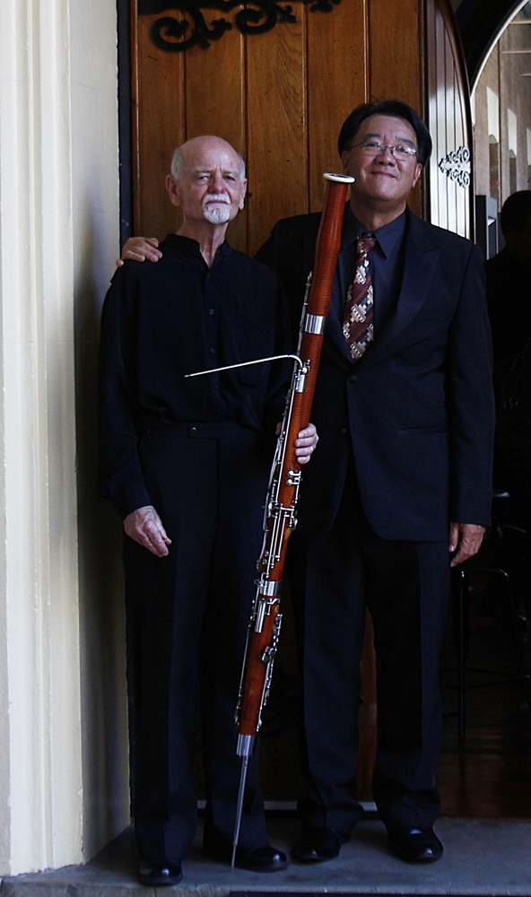 Bassoonist Peter Musson and OCS Director Stephen Wu