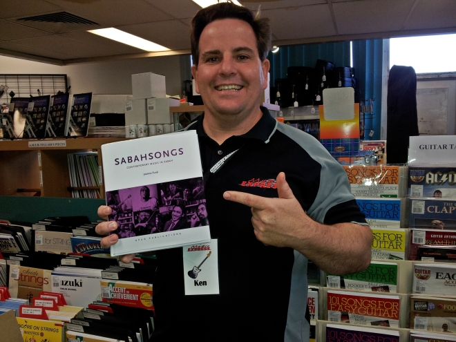 SabahSongs book with Kenny in Music Express