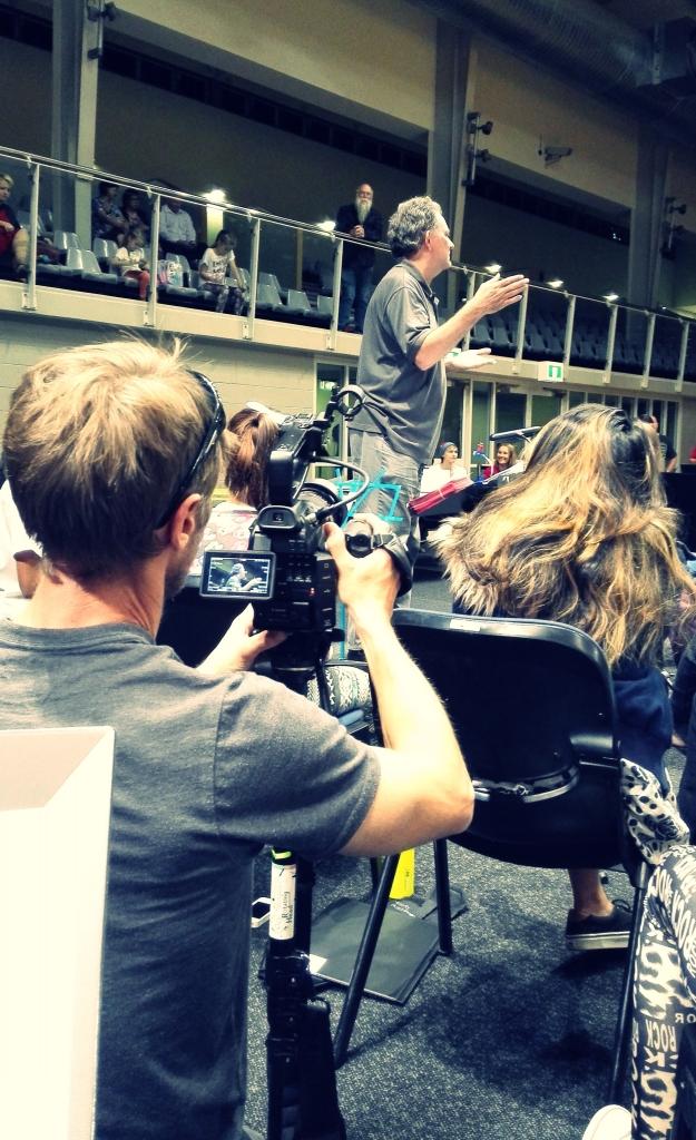 SBS cameraman and QMF Creative Director Sean Mee