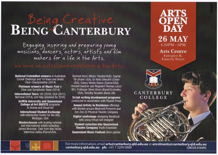 Canterbury College ARTS OPEN DAY