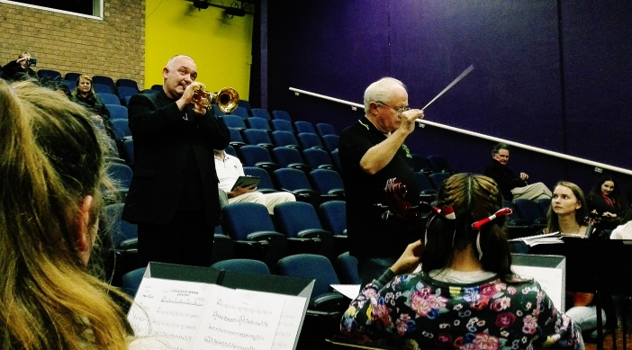 QMF Artistic Director James Morrison and Conductor Shaun Dorney