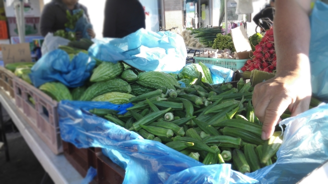 Lady's fingers okra Woodridge markets Logan Brisbane Queensland