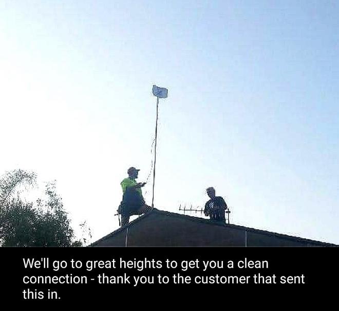internet wifi dish Kooralbyn Community Broadband Scenic Rim Queensland rural KCB NBN data speed
